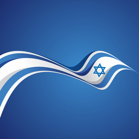 israeli: Abstract cover Israeli ribbon vector