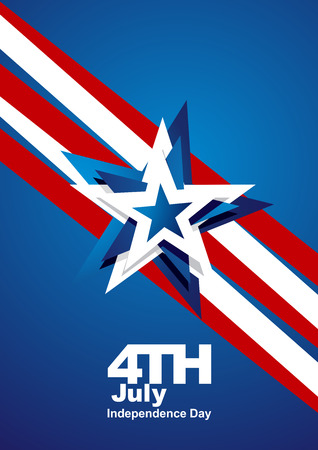 4th of july: 4th July abstract star blue white red portrait background