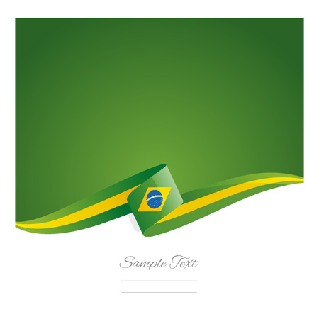 state election: New abstract Brazil flag ribbon