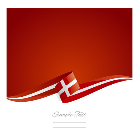 red abstract: New abstract Denmark flag ribbon