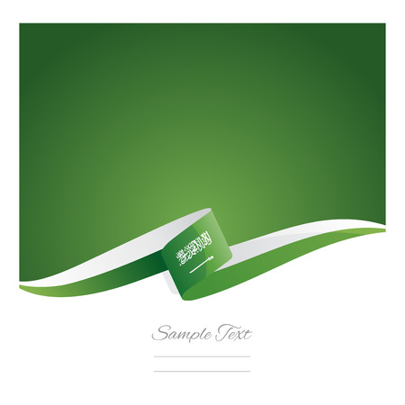 middle east: New abstract Saudi Arabia flag ribbon