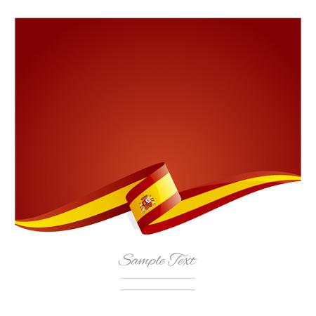 新しい抽象スペイン国旗リボン  イラスト・ベクター素材