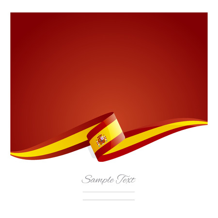 New abstract Spanish flag ribbon Çizim