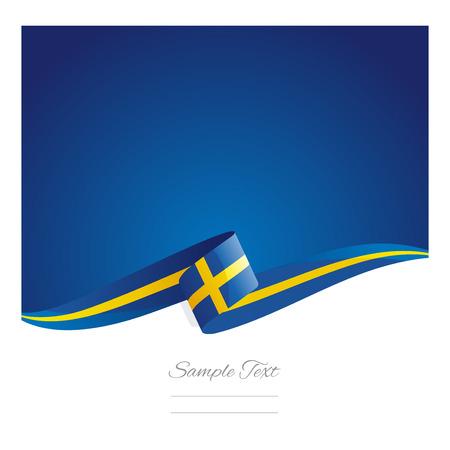 Neue abstract Schweden flag ribbon Standard-Bild - 42715100