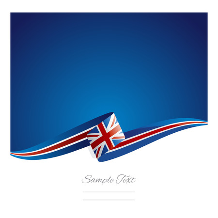 New abstract UK flag ribbon Çizim