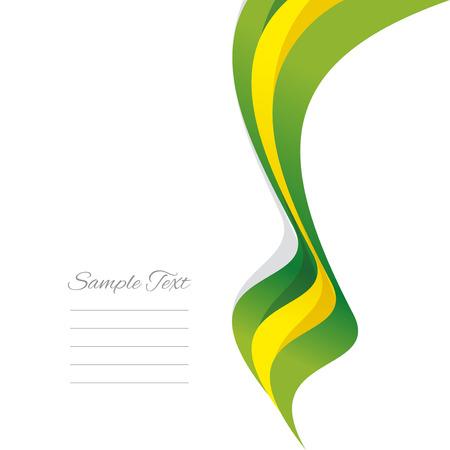 brazilian: Abstract Brazilian right ribbon vector
