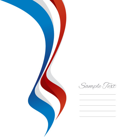 Abstract French left ribbon vector Ilustração
