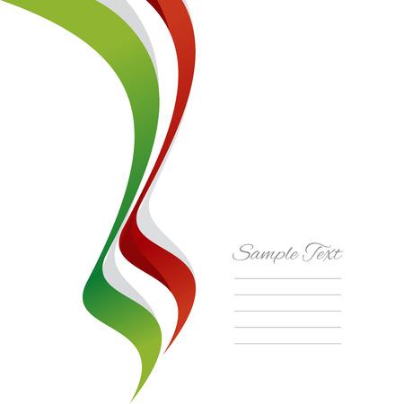 Abstract Italian left ribbon vector