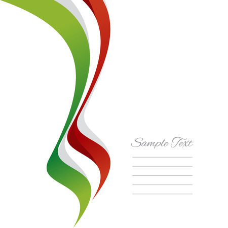 Abstract Italian left ribbon vector