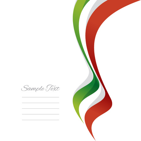 italy flag: Abstract Italian right ribbon vector