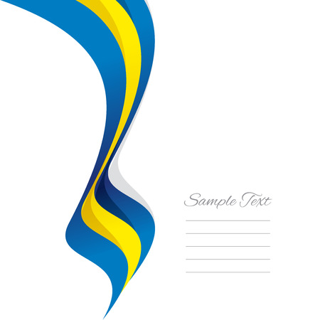 swedish: Abstract Swedish left ribbon vector Illustration