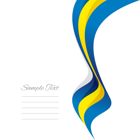 swedish: Abstract Swedish right ribbon vector Illustration