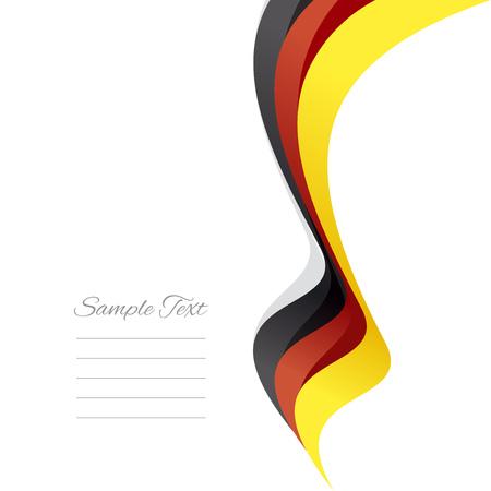 politics: Abstract German right ribbon vector