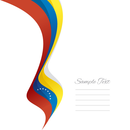 venezuelan: Abstract Venezuelan left ribbon vector