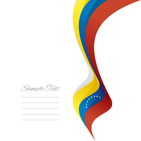 venezuelan: Abstract Venezuelan right ribbon vector Illustration
