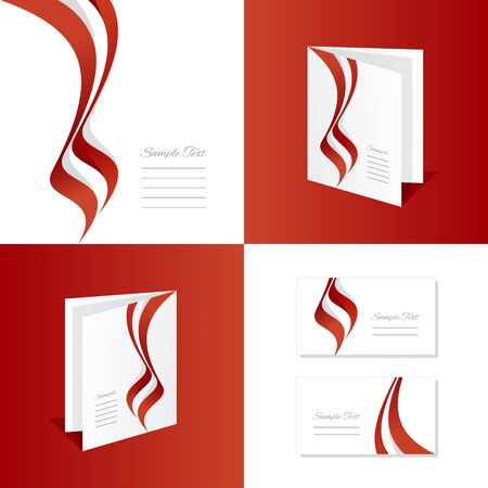 austria: Abstract Austria brochure leaflet folder cover business card