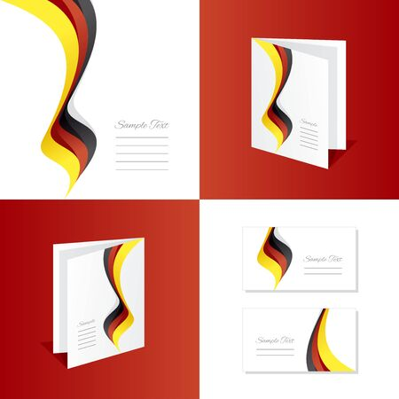 black yellow: Abstract Germany brochure leaflet folder cover business card Illustration