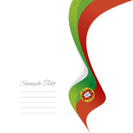 portuguese: Abstract Portuguese right ribbon vector Illustration