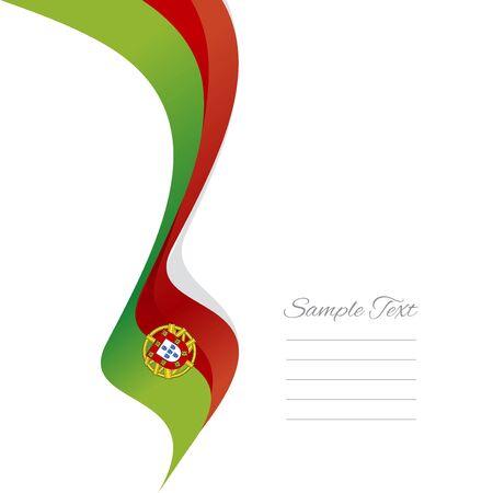 portuguese: Abstract Portuguese left ribbon vector