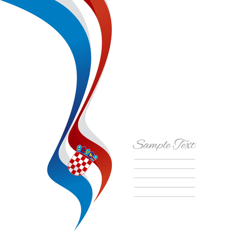 croatian: Abstract Croatian left ribbon vector