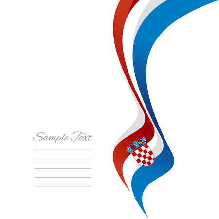 red and white: Abstract Croatian right ribbon vector
