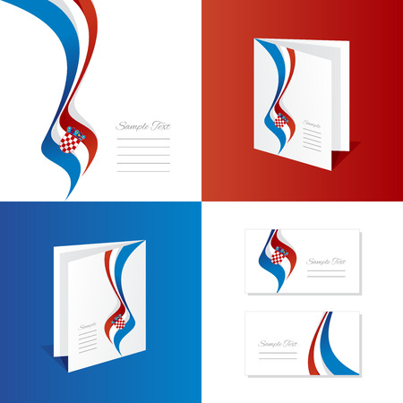 croatia: Abstract Croatia brochure leaflet folder cover business card