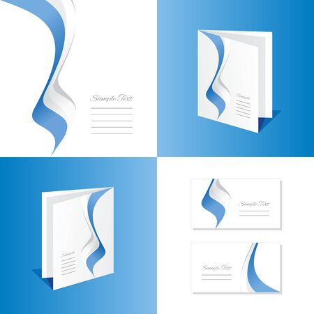 marino: Abstract San Marino brochure leaflet folder cover business card