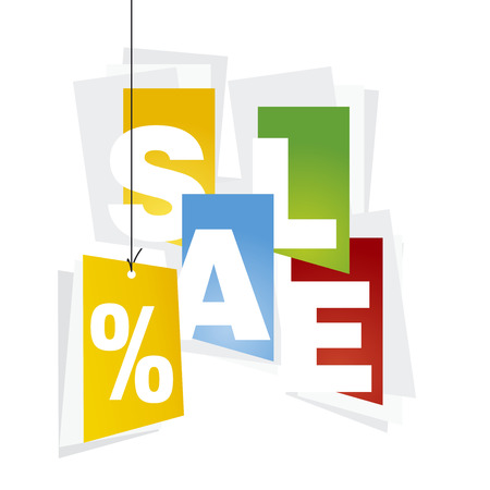 advertisements: Sale orange discount color background