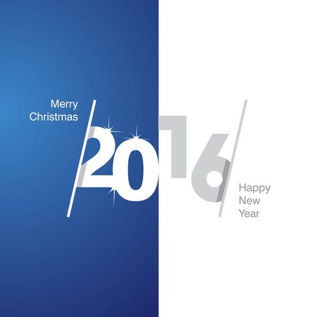 2016 Happy New Year blue white gray background