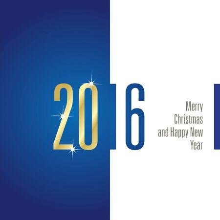 2016 blue white background vector Illustration
