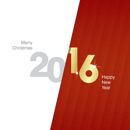 gold and red: 2016 New Year gray gold red background