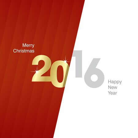 red and gold: 2016 New Year red gold gray background