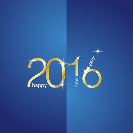 front and back: New Year 2016 front back blue background