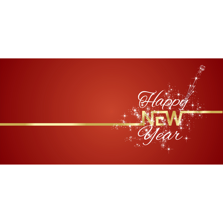greeting card background: New Year greeting card firework red background