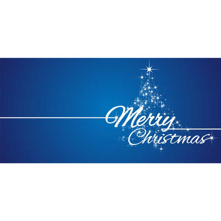 greeting card background: Merry Christmas greeting card stars blue background Illustration