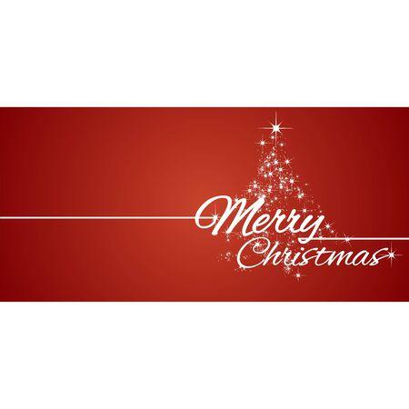 メリー クリスマス グリーティング カード赤い星の背景  イラスト・ベクター素材