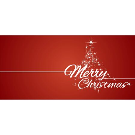 Merry Christmas greeting card stars red background