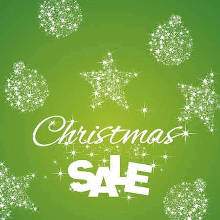 commission: Christmas Sale discount green background Illustration