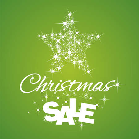 star background: Christmas Star Sale discount green background
