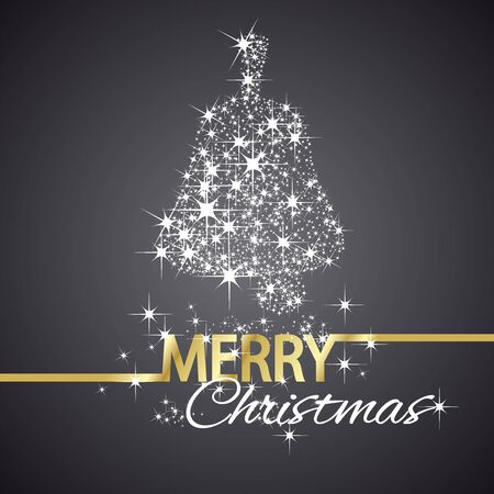 christmas symbol: Christmas bell symbol stars black background