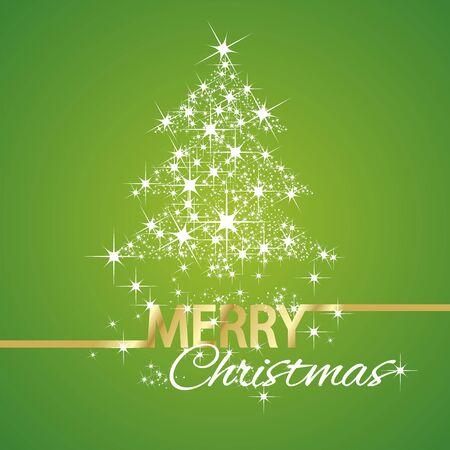 tree symbol: Christmas tree symbol stars green background
