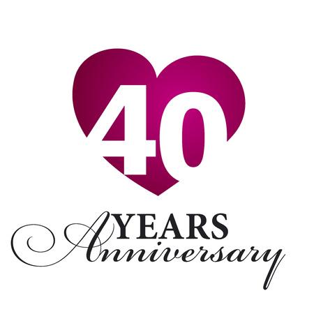 40 years: 40 years anniversary white background