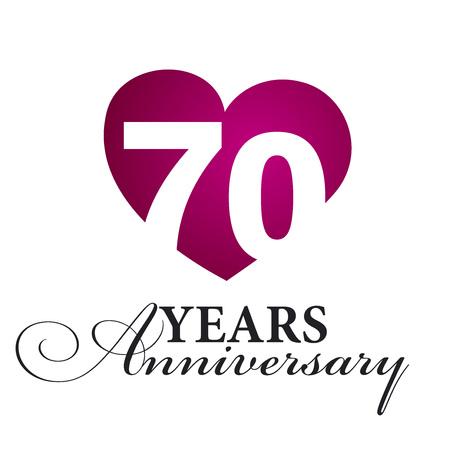 70: 70 years anniversary white background