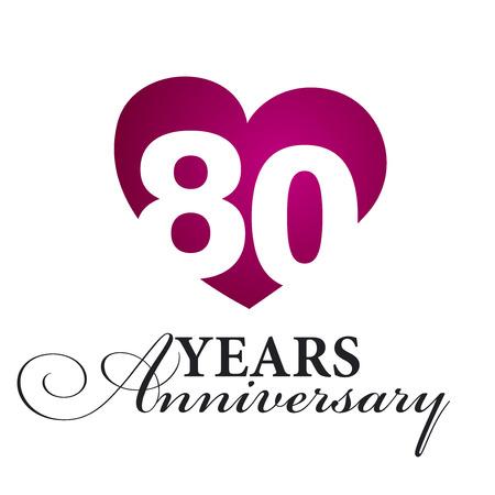 80 years: 80 years anniversary white background