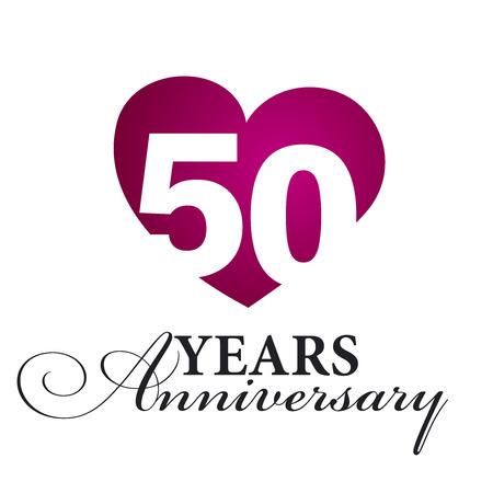 50 years: 50 years anniversary white background Illustration