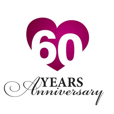 60 years: 60 years anniversary white background Illustration