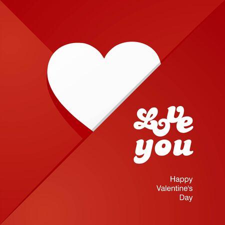 red envelope: Love heart white letters red envelope Illustration