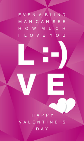 white smile: How much I Love You white smile sign pink background