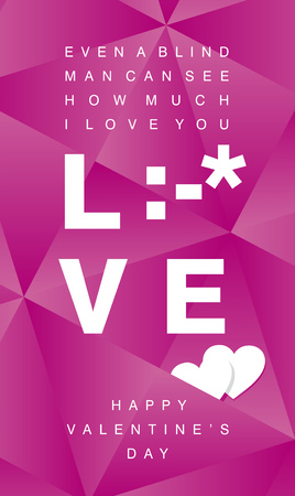 love kiss: How much I Love You white kiss sign pink background