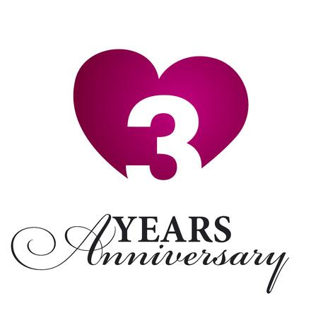 three wishes: 3 years anniversary white background